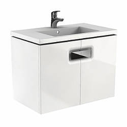 TWINS шкафчик под умывальник 80см, с дверцей, белый глянец (пол.)