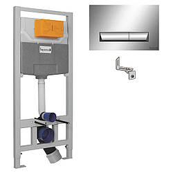 IMPRESE комплект инсталляции для унитаза 3в1 (инсталляция, крепления, клавиша хром PAN)