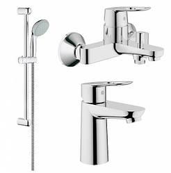 BAULOOP набор смесителей для ванны (23337000+23603000+27598001)
