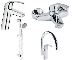 EUROSMART набор смесителей для ванны+кухня (23324001+33300002+27926001+33202002)