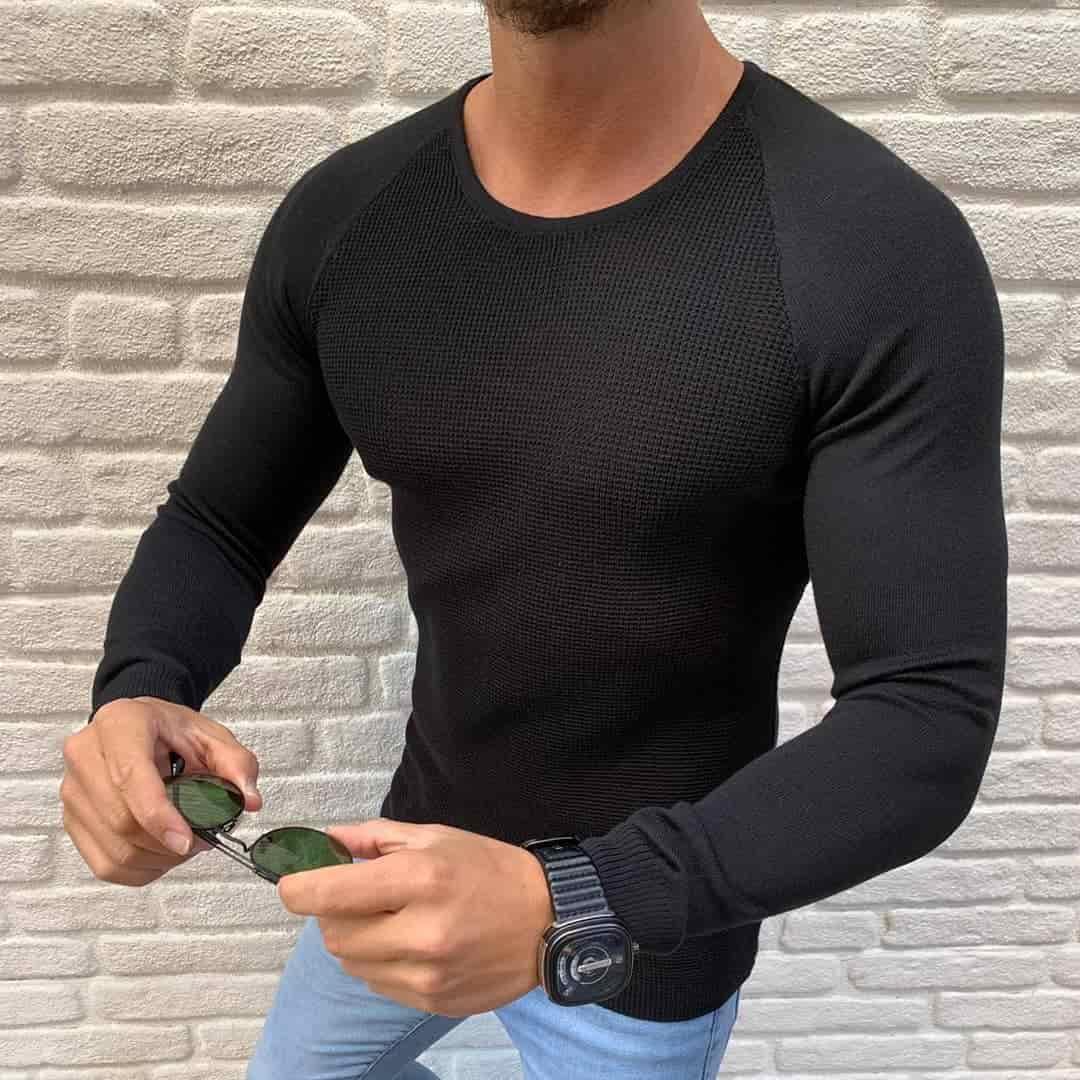 Мужской свитер черный Турция