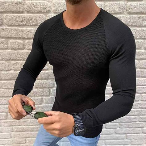 Мужской свитер черный Турция, фото 2