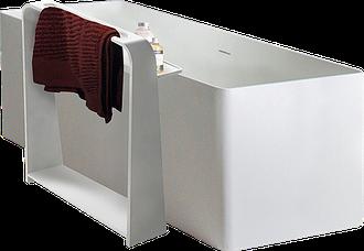 Полка-полотенцедержатель 55*15*68см напольная каменная Solid surface