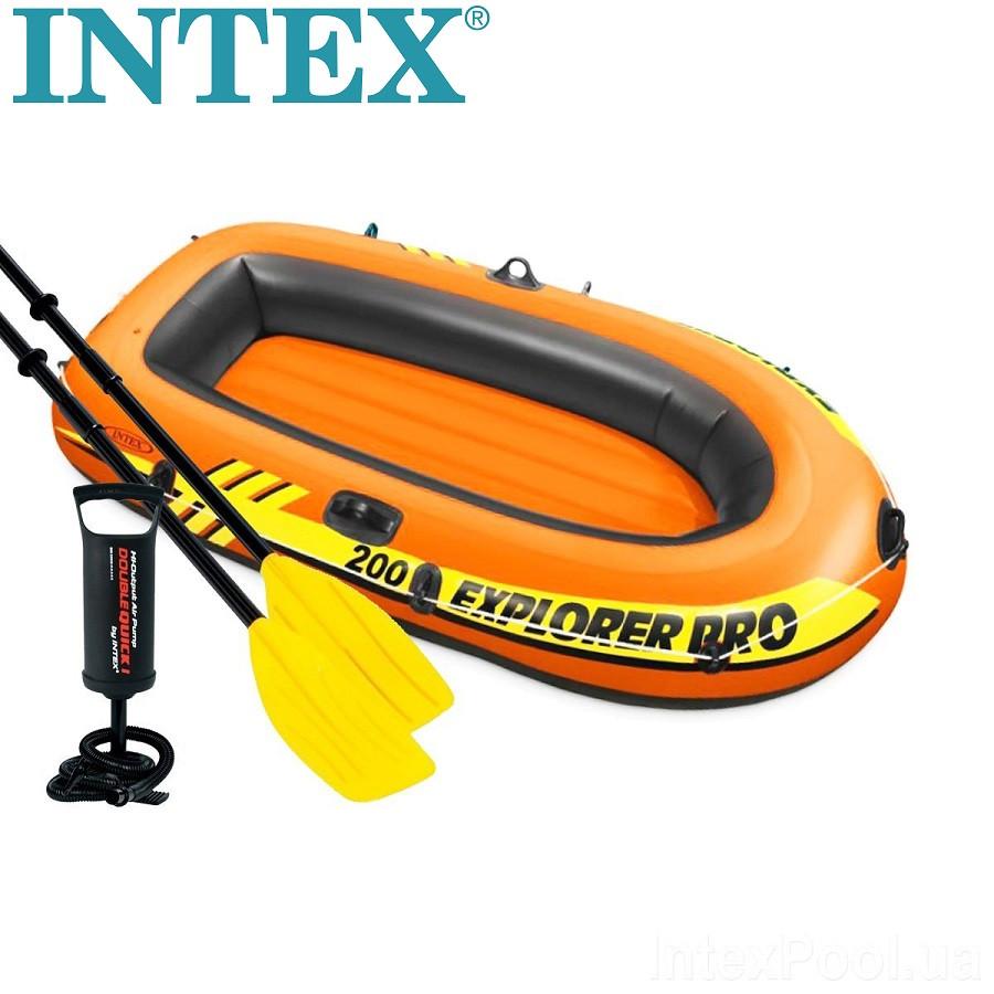 Надувная двухместная лодка Intex Explorer 200 Pro
