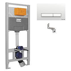 IMPRESE комплект инсталляции для унитаза 3в1 (инсталляция, крепления, клавиша белая PAN)