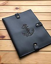 Шкіряна папка для морських документів ( Ручна робота)