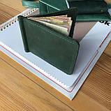 Кожаный зажим для купюр Lewis (Ручная работа), фото 3