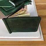 Кожаный зажим для купюр Lewis (Ручная работа), фото 4