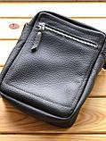 Шкіряна чоловіча сумка Ronnie (Ручна робота), фото 2