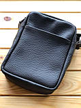 Шкіряна чоловіча сумка Ronnie (Ручна робота), фото 5