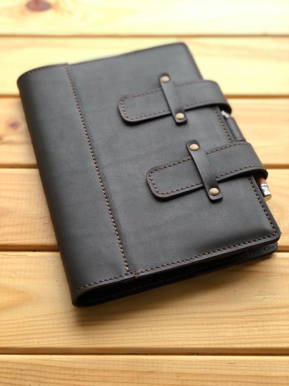 Шкіряна обкладинка для щоденника А5 Modesto ( Ручна робота)