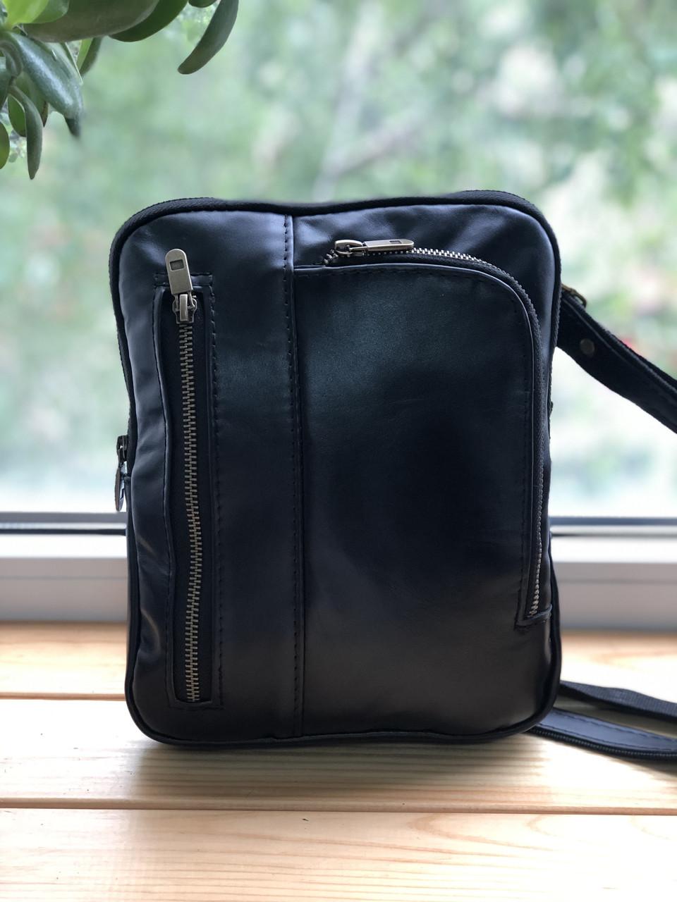 Кожаная мужская сумка  ручной работы