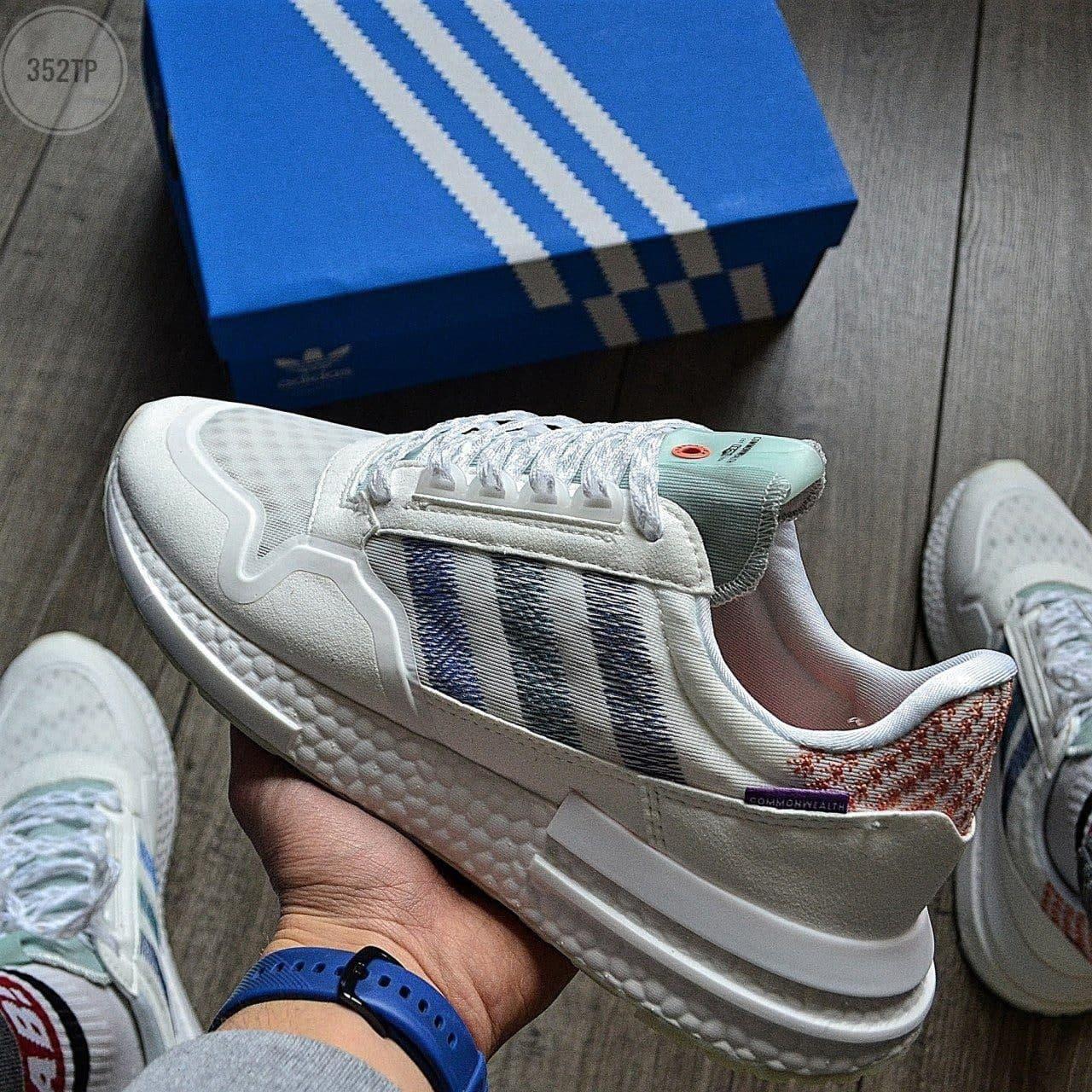 Мужские кроссовки Adidas ZХ 500 RМ (бежевые) молодежная стильная обувь 352TP