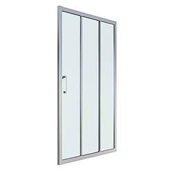 LEXO дверь 100*195см трехсекционная раздвижная, профиль хром, прозрачное стекло 6мм