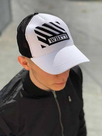 Мужская белая кепка бейсболка в стиле Офф Вайт, Турция, фото 2