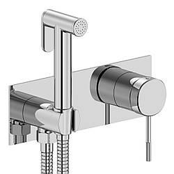 BRENTA набор: смеситель скрытого монтажа с гигиеническим душем, хром