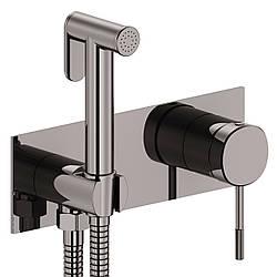 BRENTA набор: смеситель скрытого монтажа с гигиеническим душем, граф. хром