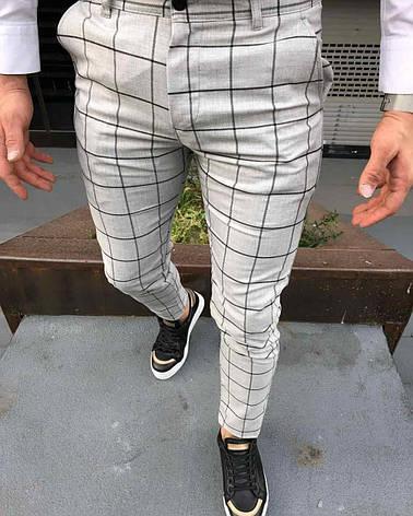 Мужские брюки бежевые в клетку Турция, фото 2