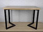 Дерев'яний столик N45 в стилі loft для домашнього офісу, фото 6