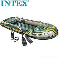 Чотиримісна човен надувний Intex Seahawk 400