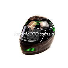 Шолом кросовий FORTE (size:L, чорно-зелений, mod:902), фото 2