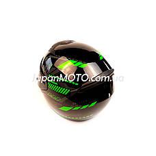 Шолом кросовий FORTE (size:L, чорно-зелений, mod:902), фото 3