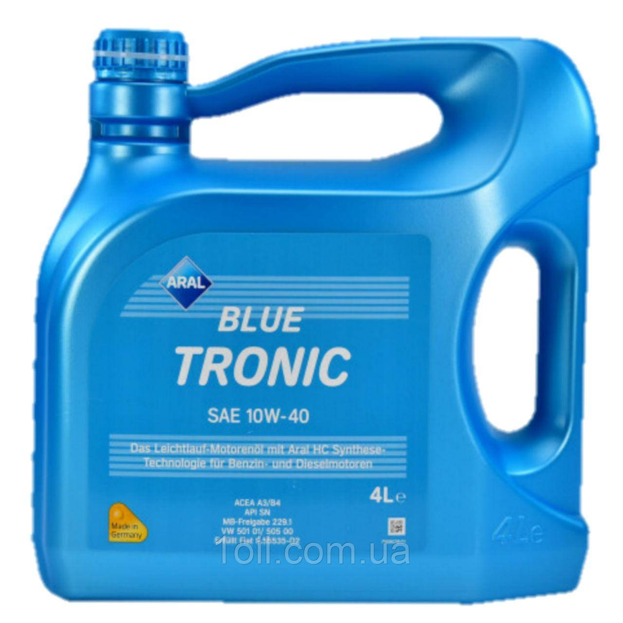 Масло моторне ARAL Blue Tronic 10w40 4L