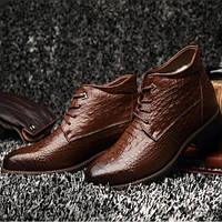 Стильные мужские зимние ботинки из натуральной кожи