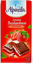 Молочный шоколад Alpinella Strawberry , 100 гр