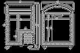 Морозильна скриня з гнутим склом JUKA (Юка) N100V / Морозильний лар Juka N100V, фото 4