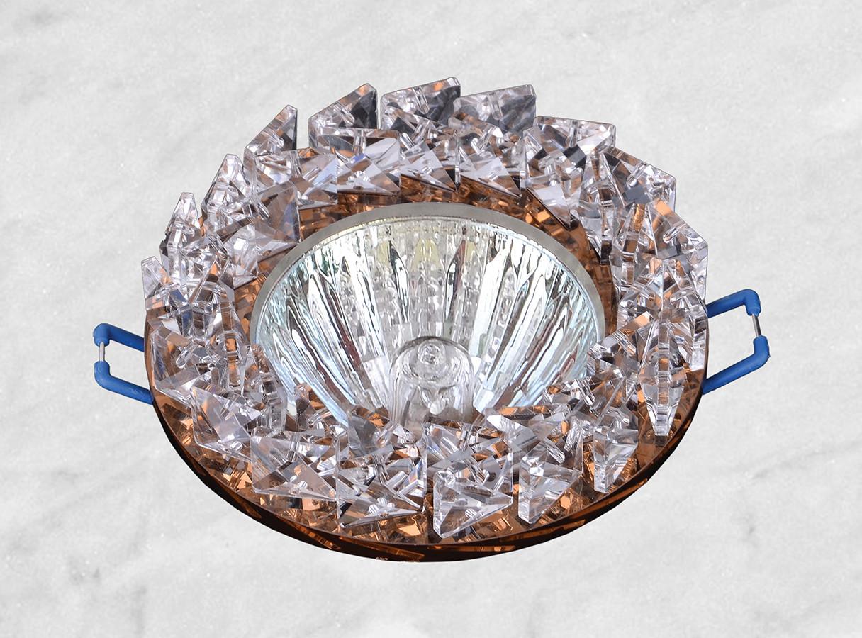 Точечный стеклянный врезной светильник (16-182)