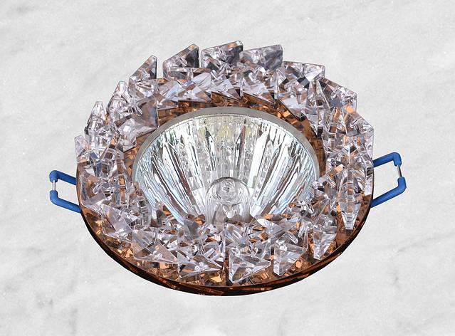Точечный стеклянный врезной светильник (16-182), фото 2