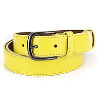 Ремень женский кожаный под джинсы желтый PS-3034 yellow (125 см)