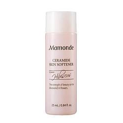 Тонер увлажняющий с экстрактом гибискуса и керамидами для лица Mamonde Moisture ceramide skin softener 25ml