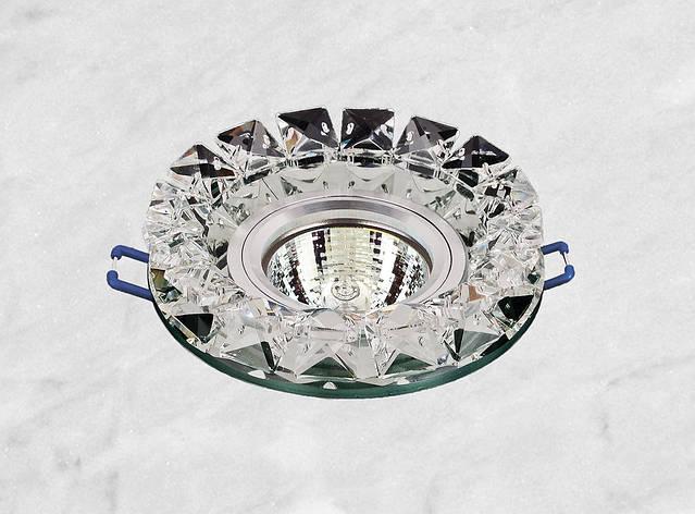 Точечный стеклянный врезной светильник (16-126), фото 2