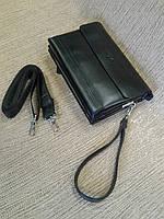 Сумка-клатч мужская,черная компактная