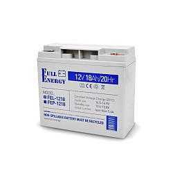 Аккумулятор гелевый 12В 18 Ач для ИБП Full Energy FEL-1218