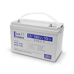 Аккумулятор гелевый 12В 100 Ач для ИБП Full Energy FEL-12100
