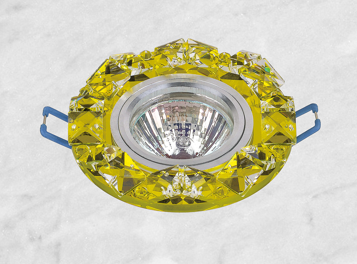 Точковий скляний світильник врізний (16-143)