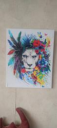 Картина по номерам Цветочные лев.jpg