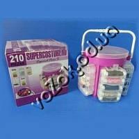 Набор-органайзер для швейных принадлежностей 210 Piezas Supercosturero
