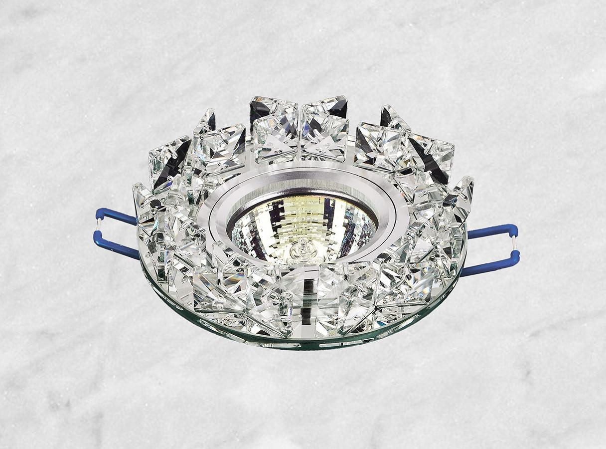 Точечный стеклянный врезной светильник (16-116)