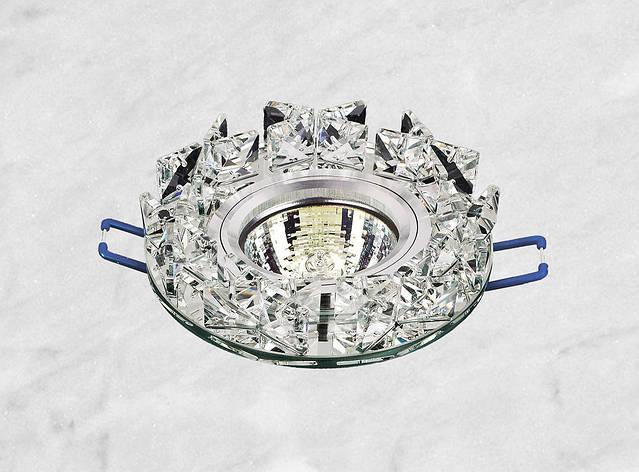 Точечный стеклянный врезной светильник (16-116), фото 2