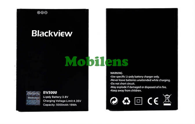 Blackview BV5000 Аккумулятор, фото 2