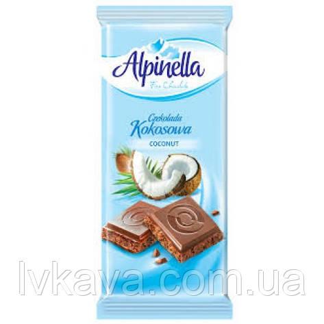 Молочный шоколад Alpinella Сoconut  , 90 гр, фото 2