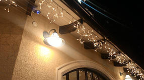 Гирлянда Бахрома Уличная ,Бахрома 3х0.6м каучуковый кабель с мерцанием белый, белый теплый цвет
