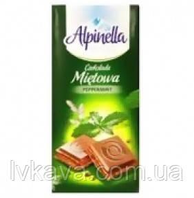 Молочный шоколад Alpinella Mietowa , 100 гр, фото 2