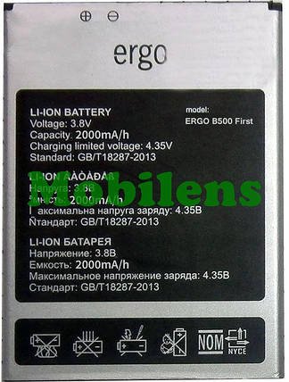 Ergo B500, First Аккумулятор, фото 2