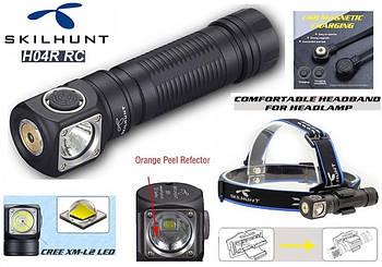 Налобный фонарь SKILHUNT H04R RC+Магнитная зарядка (1200LM, Cree XM-L2 LED, IPX8, Магнит, NW, Плоское стекло)