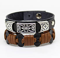 Набор браслетов из натуральной кожи S13